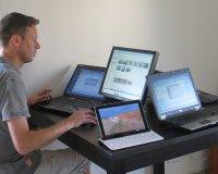 laptop, office
